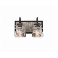 Bainbridge 2 Light 12 inch Black Iron Vanity Light Wall Light