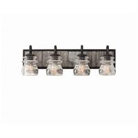 Kalco 504634BI Bainbridge 4 Light 26 inch Black Iron Vanity Light Wall Light