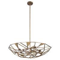 Kalco 504740PAB Esmeralda 6 Light 26 inch Pearlized Antique Brass Pendant Ceiling Light