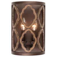 Kalco 504821BS Whittaker 2 Light 8 inch Brownstone Wall Sconce Wall Light