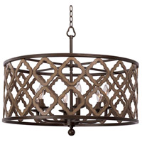 Kalco 504852BS Whittaker 6 Light 28 inch Brownstone Pendant Ceiling Light