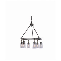 Kalco 504952MI Dillon 6 Light 30 inch Milled Iron Pendant Ceiling Light