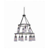 Kalco 504953MI Dillon 12 Light 32 inch Milled Iron Pendant Ceiling Light