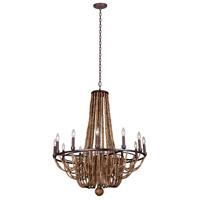 Kalco 505272RM Beechwood 12 Light 34 inch Royal Mahogany Chandelier Ceiling Light