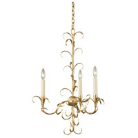 Ainsley 3 Light 20 inch Oxidized Gold Leaf Chandelier Ceiling Light