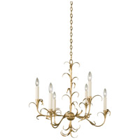 Kalco 505471OL Ainsley 6 Light 26 inch Oxidized Gold Leaf Chandelier Ceiling Light