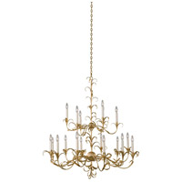 Kalco 505472OL Ainsley 18 Light 44 inch Oxidized Gold Leaf Chandelier Ceiling Light