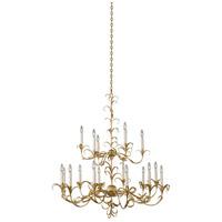 Kalco 505472OL Ainsley 18 Light 44 inch Oxidized Gold Leaf Chandelier Ceiling Light