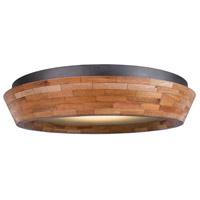 Kalco 505541BI Lansdale LED 18 inch Black Iron Flush Mount Ceiling Light