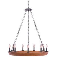 Kalco 505555BI Lansdale 9 Light 33 inch Black Iron Chandelier Ceiling Light