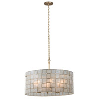 Kalco 505851OL Roxy 6 Light 27 inch Oxidized Gold Leaf Pendant Ceiling Light