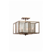 Camilla 4 Light 16 inch Rustic Silver Leaf Semi Flush Mount Ceiling Light