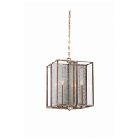 Kalco 506052RSL Camilla 4 Light 16 inch Rustic Silver Leaf Pendant Ceiling Light