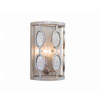 Kalco 506121VSL Palomar 2 Light 8 inch Vintage Silver Leaf Wall Sconce Wall Light