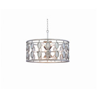 Palomar 12 Light 26 inch Vintage Silver Leaf Pendant Ceiling Light