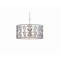 Kalco 506153VSL Palomar 12 Light 26 inch Vintage Silver Leaf Pendant Ceiling Light