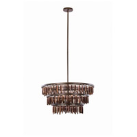 Unie 6 Light 28 inch Brownstone Pendant Ceiling Light
