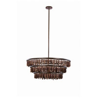 Unie 6 Light 34 inch Brownstone Pendant Ceiling Light