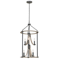 Kalco 506650NI Middleton 6 Light 18 inch Natural Iron Foyer Ceiling Light