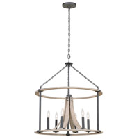 Kalco 506652NI Middleton 6 Light 26 inch Natural Iron Pendant Ceiling Light