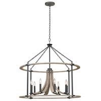 Kalco 506653NI Middleton 8 Light 34 inch Natural Iron Pendant Ceiling Light