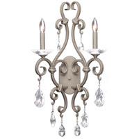Kalco 506722FC Palladium 2 Light 14 inch French Cream Wall Sconce Wall Light
