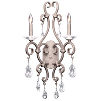 Kalco 506722PS Palladium 2 Light 14 inch Pearl Silver Wall Sconce Wall Light