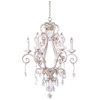 Kalco 506771PS Palladium 6 Light 27 inch Pearl Silver Chandelier Ceiling Light