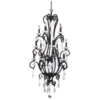 Kalco 506772B Palladium 15 Light 32 inch Black Chandelier Ceiling Light