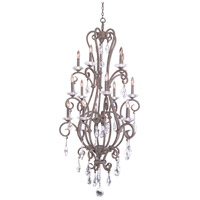 Kalco 506772CI Palladium 15 Light 32 inch Country Iron Chandelier Ceiling Light