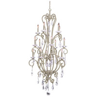 Kalco 506772FC Palladium 15 Light 32 inch French Cream Chandelier Ceiling Light
