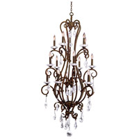 Kalco 506772TO Palladium 15 Light 32 inch Tortoise Shell Chandelier Ceiling Light