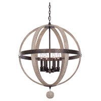 Kalco 506851FG Harper 6 Light 25 inch Florence Gold Pendant Ceiling Light