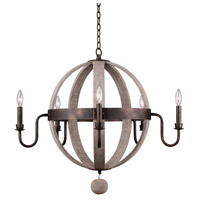 Kalco 506871FG Harper 5 Light 32 inch Florence Gold Chandelier Ceiling Light