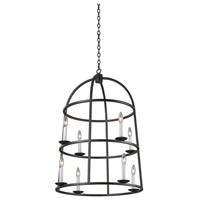 Kalco 506950BI Wickenburg 12 Light 25 inch Black Iron Foyer Ceiling Light