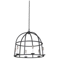 Kalco 506952BI Wickenburg 6 Light 28 inch Black Iron Pendant Ceiling Light