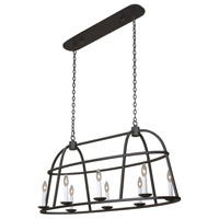 Kalco 506960BI Wickenburg 8 Light 42 inch Black Iron Island Ceiling Light