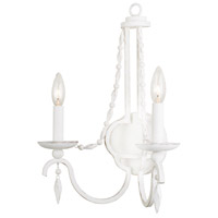 Acadia 2 Light 13 inch Distressed White Wall Sconce Wall Light