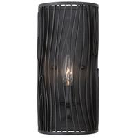 Kalco 507520BI Morre 1 Light 4 inch Black Iron ADA Wall Sconce Wall Light