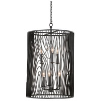 Kalco 507550BI Morre 6 Light 20 inch Black Iron Foyer Ceiling Light