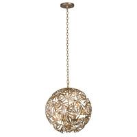 Kalco 507650OL Jardin 4 Light 18 inch Oxidized Gold Leaf Pendant Ceiling Light