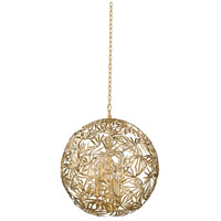 Jardin 6 Light 24 inch Oxidized Gold Leaf Pendant Ceiling Light