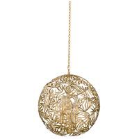 Kalco 507651OL Jardin 6 Light 24 inch Oxidized Gold Leaf Pendant Ceiling Light