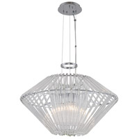 Kalco 508451CH Taza 3 Light 22 inch Chrome Pendant Ceiling Light