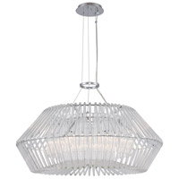 Kalco 508452CH Taza 6 Light 28 inch Chrome Pendant Ceiling Light