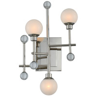 Kalco Polished Nickel Steel Wall Sconces