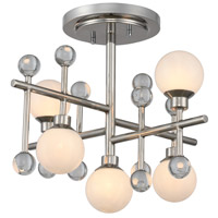 Kalco 508640PN Mercer LED 16 inch Polished Nickel Semi Flush Ceiling Light