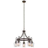 Kalco 508770BS Allegheny 5 Light 26 inch Brownstone Chandelier Ceiling Light