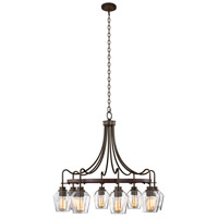 Kalco 508771BS Allegheny 8 Light 32 inch Brownstone Chandelier Ceiling Light