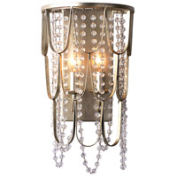 Kalco 508820CSL Dulce 2 Light 9 inch Champagne Silver Leaf Wall Sconce Wall Light